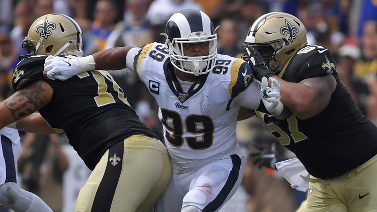 Aaron Donald New Orleans Saints-Los Angeles Rams Football