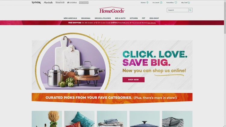 HomeGoods launches online store