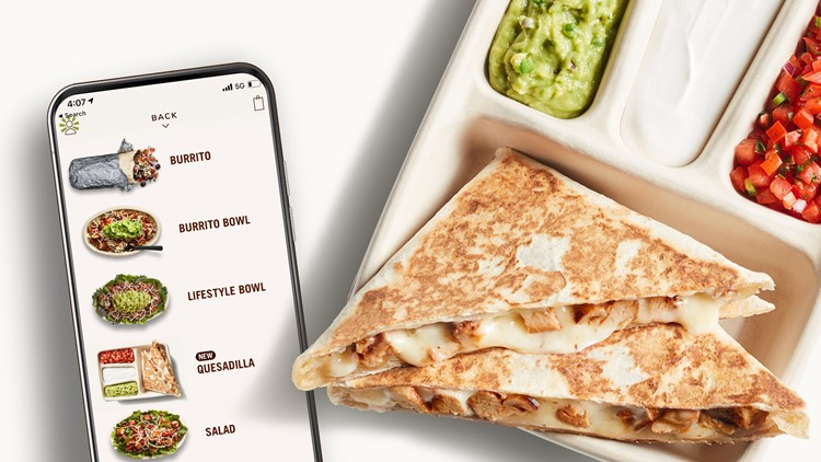 Chipotle offering quesadillas through digital orders only