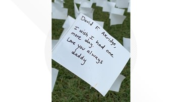 Loved ones personalize 660,000 white flags planted in honor of those who have died of COVID-19