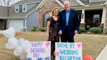 Georgia couple in quarantine ties knot in drive-by ceremony